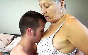 Agedlove granny savana fucked with in fact hard utilize
