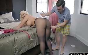 Bbw stepmom is excited and craves a youthful weenie in her substantial arse
