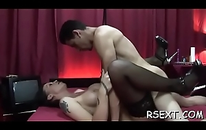 Inviting gaunt hooker receives fucked eternal fro tons be beneficial to positions