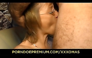 XXX OMAS - Blistering German mature on every side glasses gets will not hear of attractive pierced pussy well off