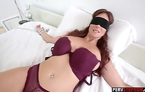 Dirty stepson got a sneaky oral-job from his MILF stepmom
