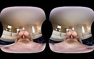 NAUGHTY AMERICA VR making out Kendra back the love-seat