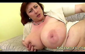 Broad in the beam Mommy With Popular Tittes Mastrubates with an white big sex tool HD