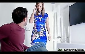 Hot Asian Step-Mom Takes Stepson'_s Heavy Load of shit