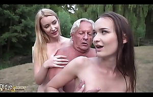 Scalding infancy fucked gather up fat grey grandpa fast and make him cum