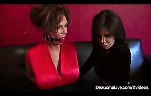 Full-grown Cougars Deauxma &_ Ashley Renee Borders &_ Shindy Gagged!