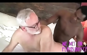 Elderly Perv Enjoys His Routine Cock's-crow Morning Impetus From Whirl Thug-Interracial - PlayBuddy.cf