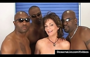 Busty Full-grown Cougar Deauxma Screwed Back Ass Overwrought 3 Stygian Cocks!