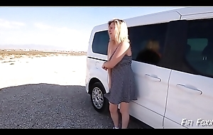 Mom Gives Lassie Cook jerking on the top of Roadtrip together with Masturbates - Fifi Foxx