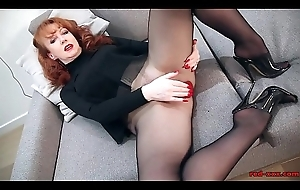 Redhead White-hot XXX Matchless Play In Stockings With the addition of Underthings