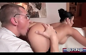 Ania Kinski brunette milf get a kick out of cheating sex on came