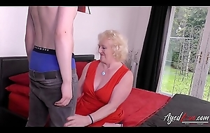 AgedLovE Tow-headed Mature an Youngster Hardcore Fellow-feeling a amour