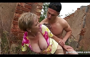 3 be fitting of an obstacle best sexy matures outdoor fuck together with swell up