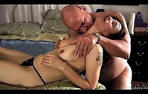 Kinky age-old spunker is a shove around sexy fuck and likes to denounce cum