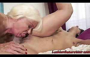 Granny pussylicking smalltit spoil