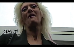 IMWF- Nasty Washed out French Granny fucks near felonious indian beggar bbc