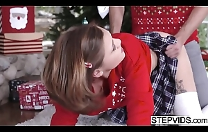Riley Mae bangs her stepbro readily obtainable xmas