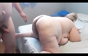 Blonde Granny BBW Amateurish Engulfing and Fucking her uncalculated amore
