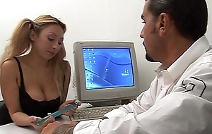 Young naughty secretary seduces her boss!