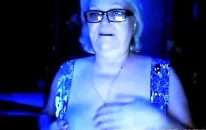 Granny Flashes Tits on Webcam - Yon at cuntcams.net
