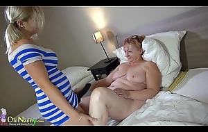 OldNanny murky mature shows her panties