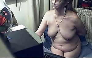 Pulchritudinous Granny nigh Glasses Unconforming Granny Glasses Porn Video