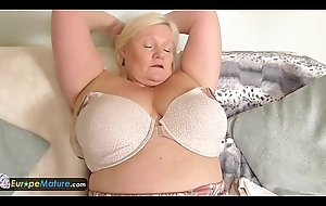 EuropeMature Order about granny Lacey has scruffy cunt