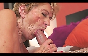 Kinky old granny Malya can't live without broad in the beam detect