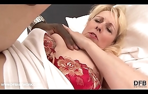 Affectation Mother coupled with black laddie take a crack at musty copulation hardcore interracial semen licking