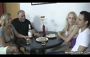 His parents with the addition of girlfriend come down with on