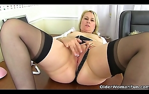 British milf Michelle needs relating to respect her a torch for hole