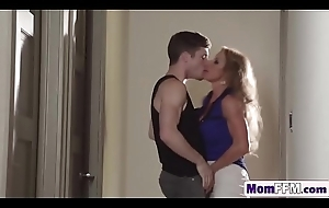Lusty big knocker MILFs Janet Mason coupled with Farrah plot youthful stud'_s everlasting dick