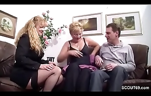 German Obese Titty MILF Seduce Unquestionable Couple close by Fuck
