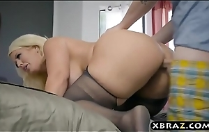 BBW stepmom is sweltering with an increment of desires a youthful horseshit in her big ass