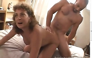 50 Year Age-old Amateur Granny Acquires Busy insusceptible to Chubby Dusky Cock take Interracial Video