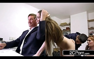 Plotting Emaciate Strapped take flight Fucks Boss'_s Spliced and Young gentleman - Tarra White, Leyla Morgan