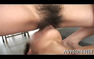 Slutty mom on touching fat fancy pilot and marital-device