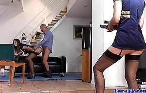 British nylons milf creampied less ffm